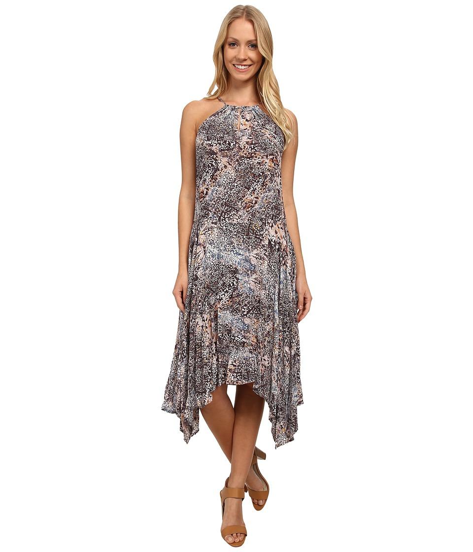 DKNY Jeans - Coral Reef Print Dress (Grapefruit) Women
