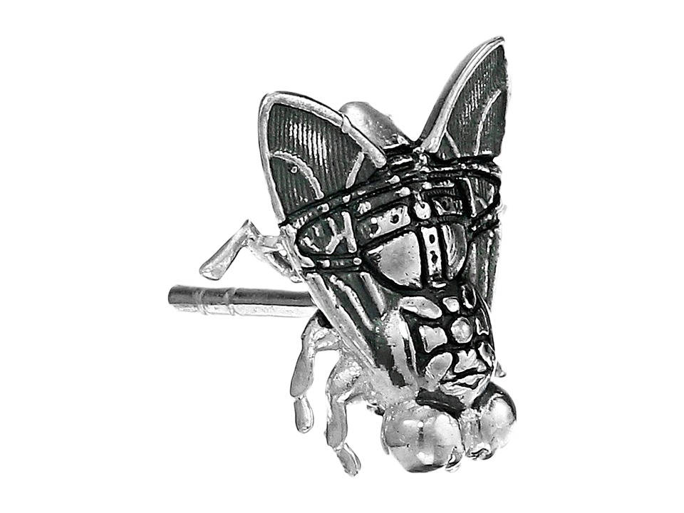 Vivienne Westwood - Fly Single Stud Earrings (Silver) Earring