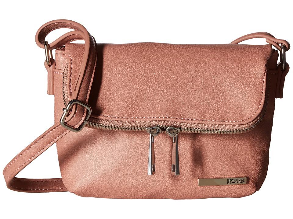 Kenneth Cole Reaction - Wooster Street Fold-Over Flap Crossbody (Pink Mist) Cross Body Handbags