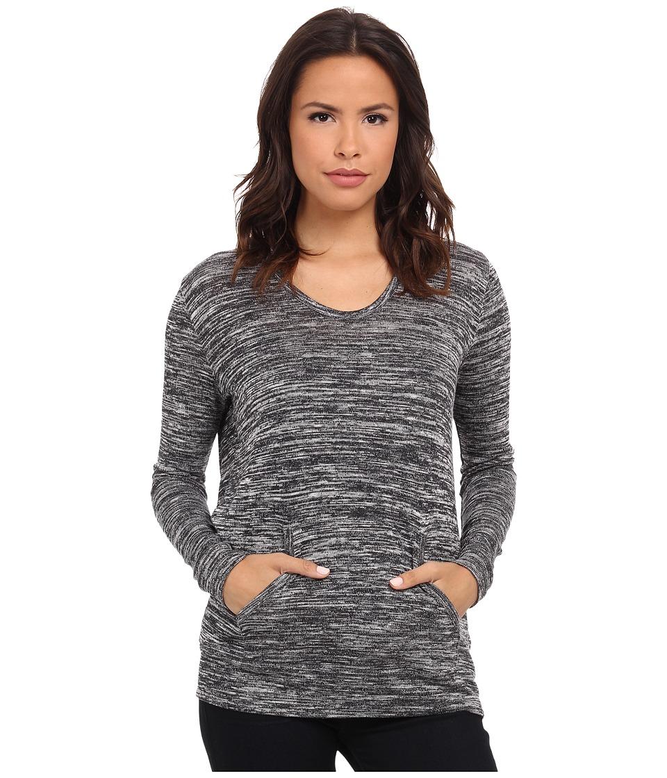 DKNY Jeans - Knit Pullover Hoodie (Polar Cream) Women's Sweatshirt