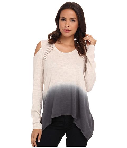 DKNY Jeans - Dip Dye Cold Shoulder Sweater (Oatmeal Heather) Women
