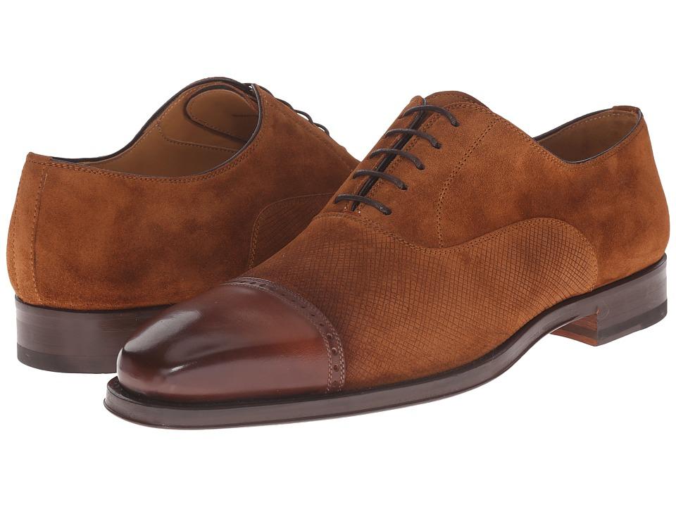 Magnanni - Riel (Cognac) Men's Lace Up Cap Toe Shoes