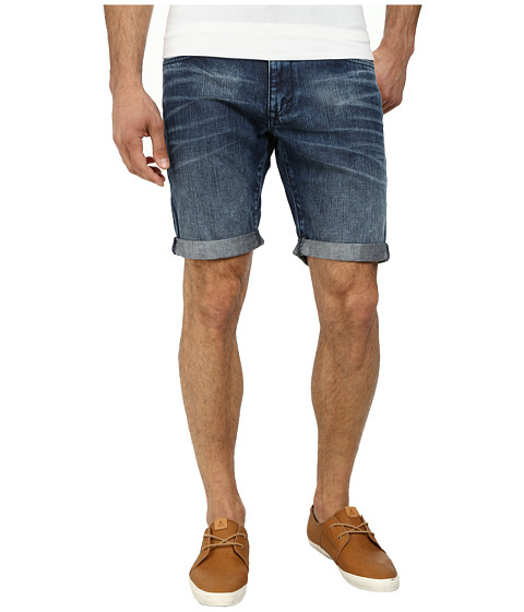 DKNY Jeans - Bleecker Fit Denim Shorts in Medium Indigo (Medium Indigo) Men's Shorts