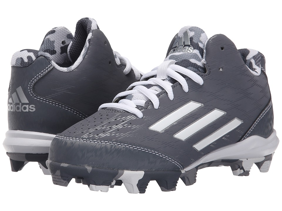 adidas Kids - Wheelhouse 3 Mid Baseball (Toddler/Little Kid/Big Kid) (Onix/White/Silver Metallic) Boys Shoes