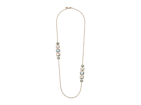 LAUREN by Ralph Lauren - 34 Chain with Bezel Set Stone Stations with Lobster Closure (Gold/Blue/Green) Necklace