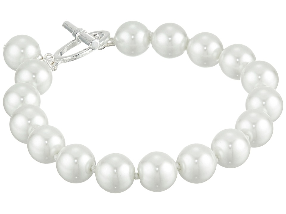 LAUREN by Ralph Lauren - 8 10mm Pearl with Ring and Toggle (Silver/White Pearl) Necklace