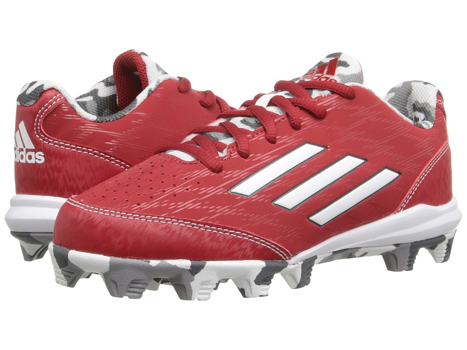 adidas Kids - Wheelhouse 3 Baseball (Toddler/Little Kid/Big Kid) (Power Red/White/Tech Grey Metallic) Boys Shoes