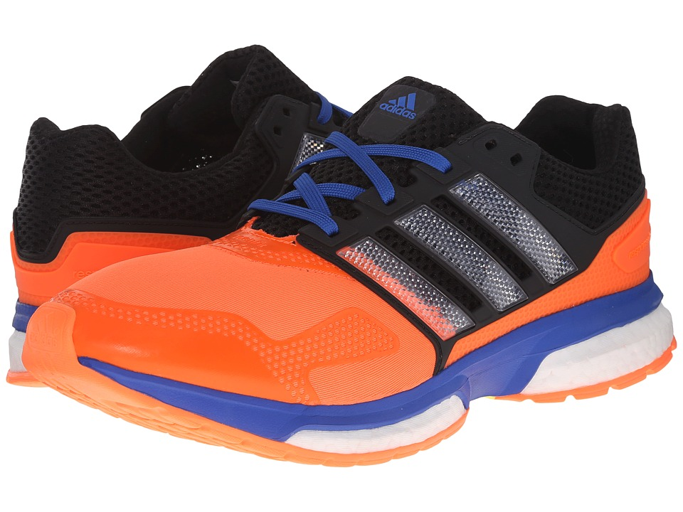 adidas Running - Response Boost 2 Techfit (Solar Orange/White/Blue) Men's Running Shoes