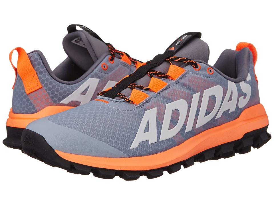 adidas Running - Vigor 6 TR (Light Grey/White/Solar Orange) Men's Running Shoes