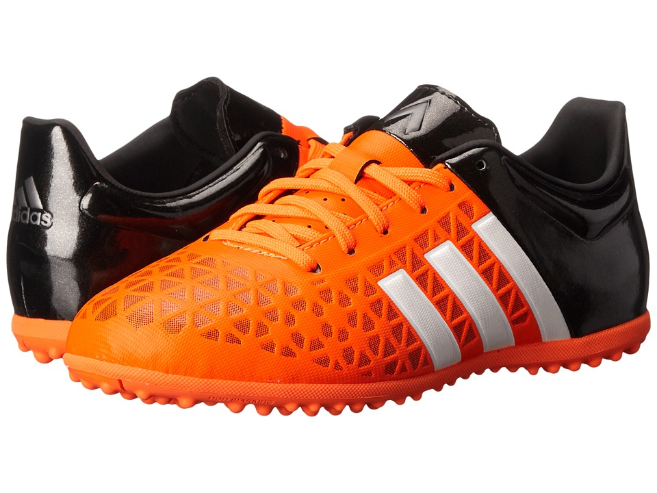 adidas Kids - Ace 15.3 TF Soccer (Little Kid/Big Kid) (Solar Orange/White/Core Black) Kids Shoes