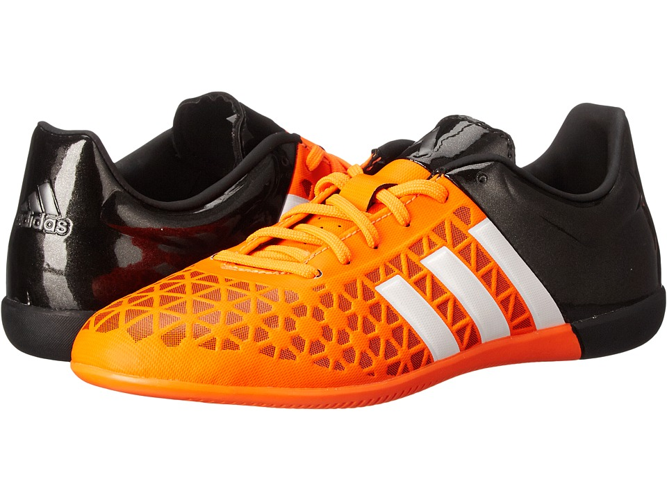 adidas Kids - Ace 15.3 IN Soccer (Little Kid/Big Kid) (Solar Orange/White/Core Black) Kids Shoes