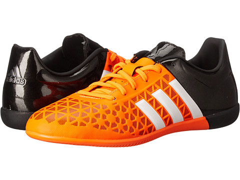 adidas Kids - Ace 15.3 IN Soccer (Little Kid/Big Kid) (Solar Orange/White/Core Black) Kids Shoes