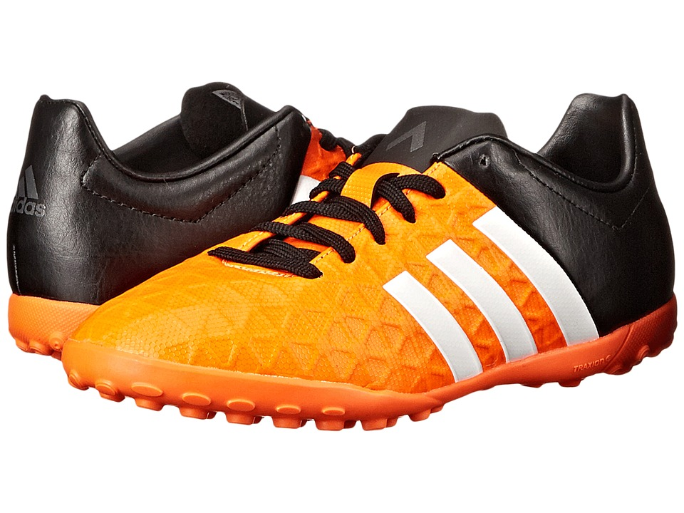 adidas Kids - Ace 15.4 TF (Little Kid/Big Kid) (Solar Orange/White/Core Black) Kids Shoes
