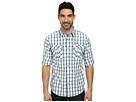 DKNY Jeans Long Sleeve Roll Tab Slub Degradee Check Shirt Casual Wash