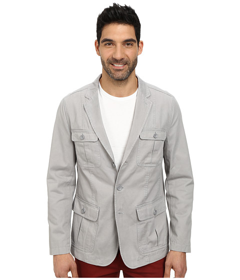 DKNY Jeans - Cotton Twill Four-Pocket Washed Blazer (Alloy) Men's Jacket