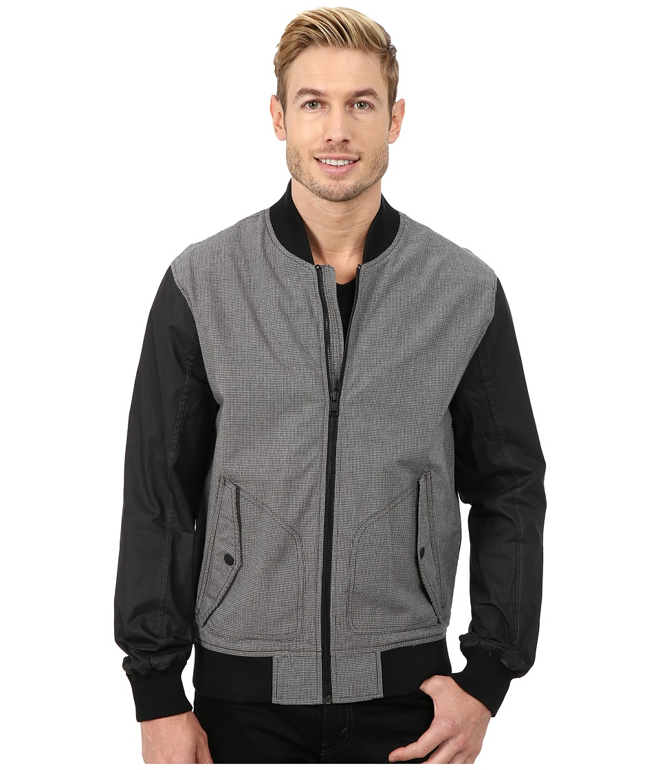 DKNY Jeans - Contrast Sleeve Bomber Jacket (Grey) Men's Coat