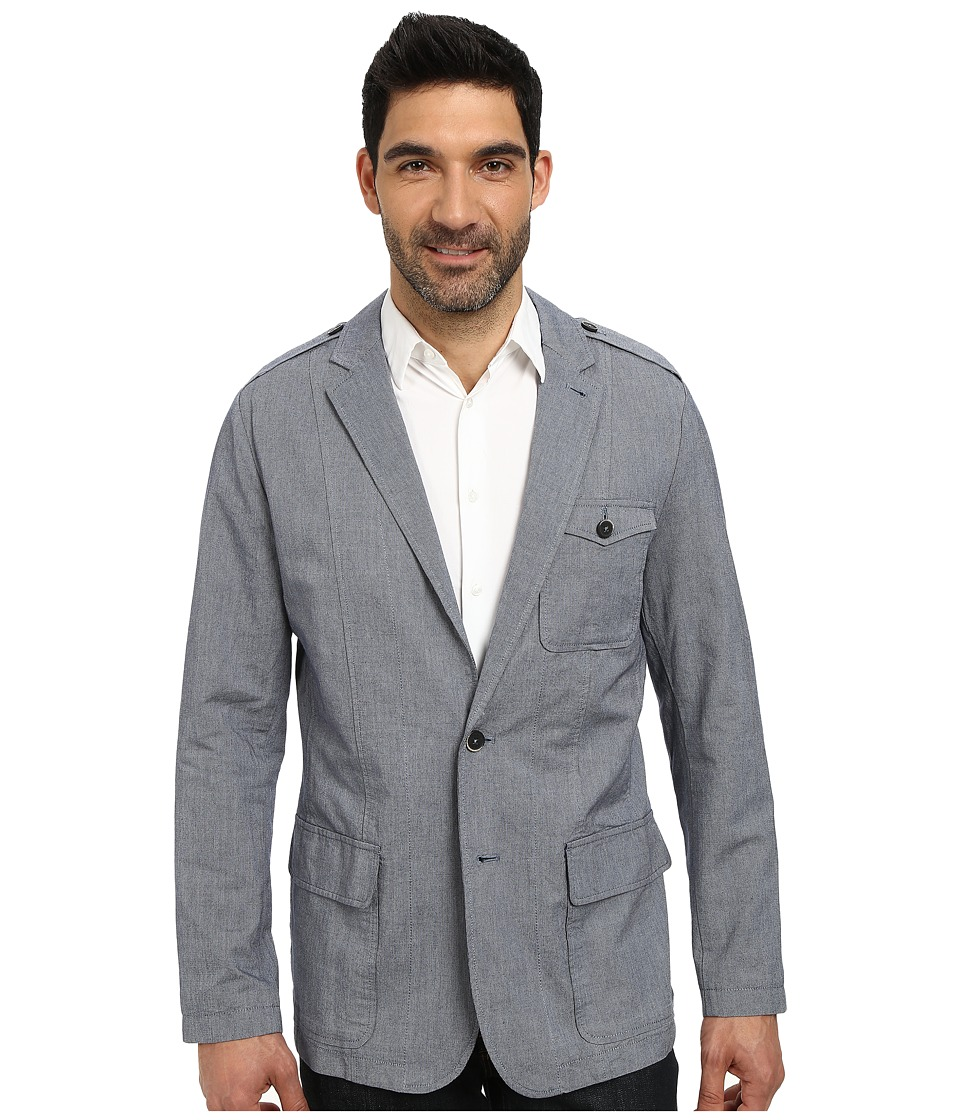 DKNY Jeans - Yarn Dyed Dobby End-On-End Hybrid Blazer (Ttl Eclpse) Men's Jacket