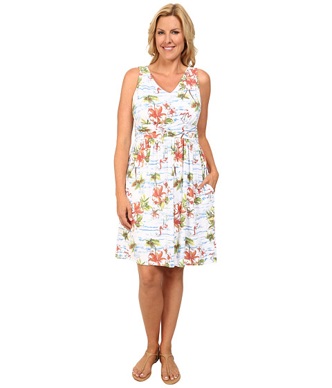 Fresh Produce - Plus Size Tropic Flea Market Dress (White) Women's Dress