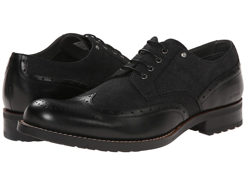 G-Star - Manor Caxton (Black) Men's Lace up casual Shoes