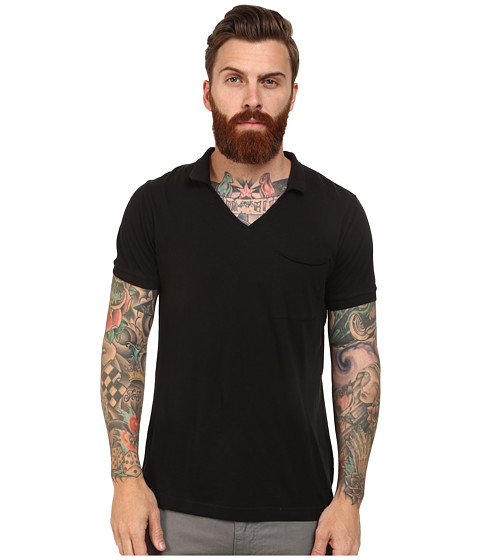French Connection - Lunar Jersey Polo (Black) Men