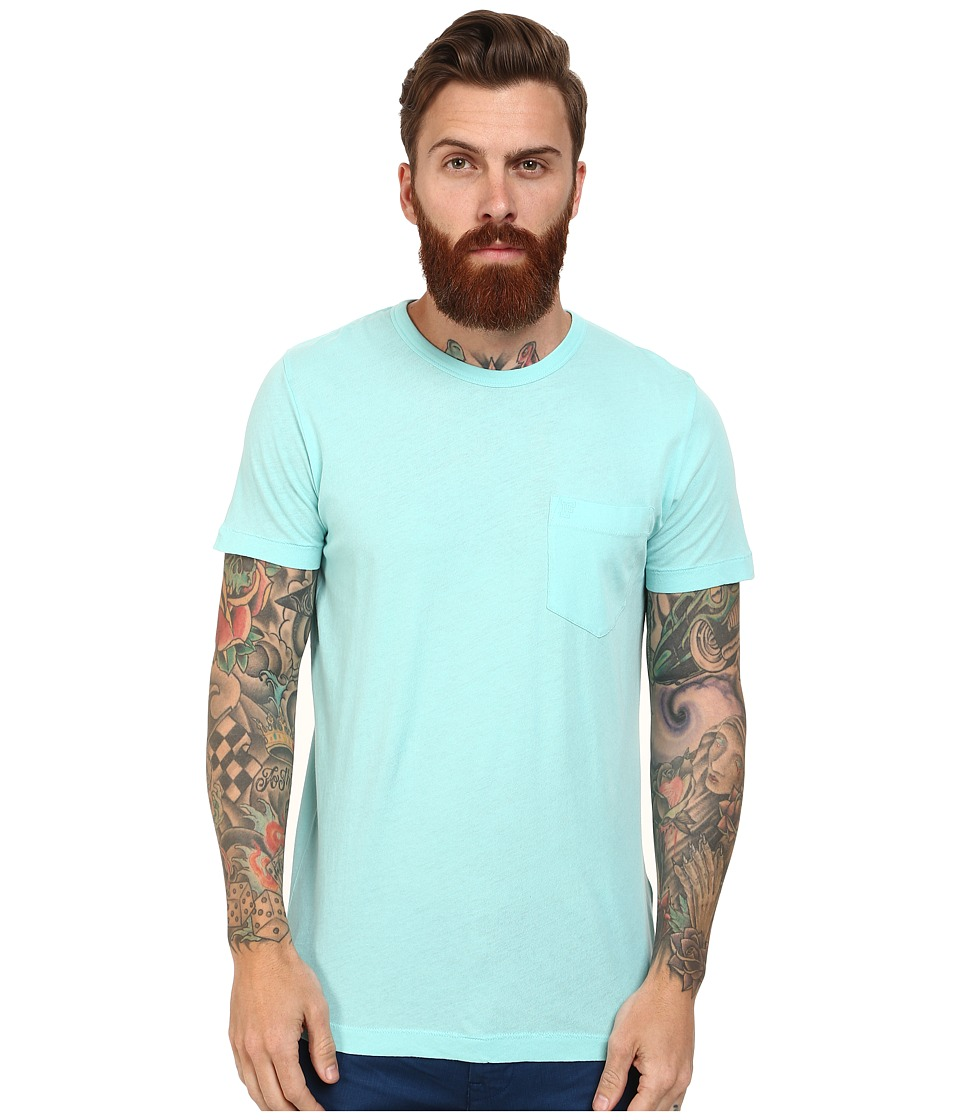 French Connection - Loose Knit Jersey Tee (Aqua Sky) Men