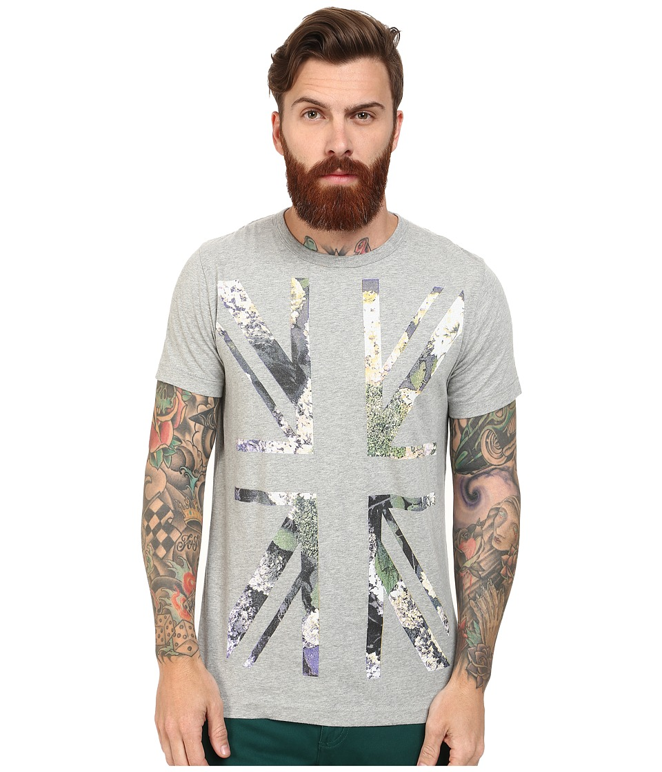 French Connection - Flower Power Tee (Grey Melange) Men's T Shirt
