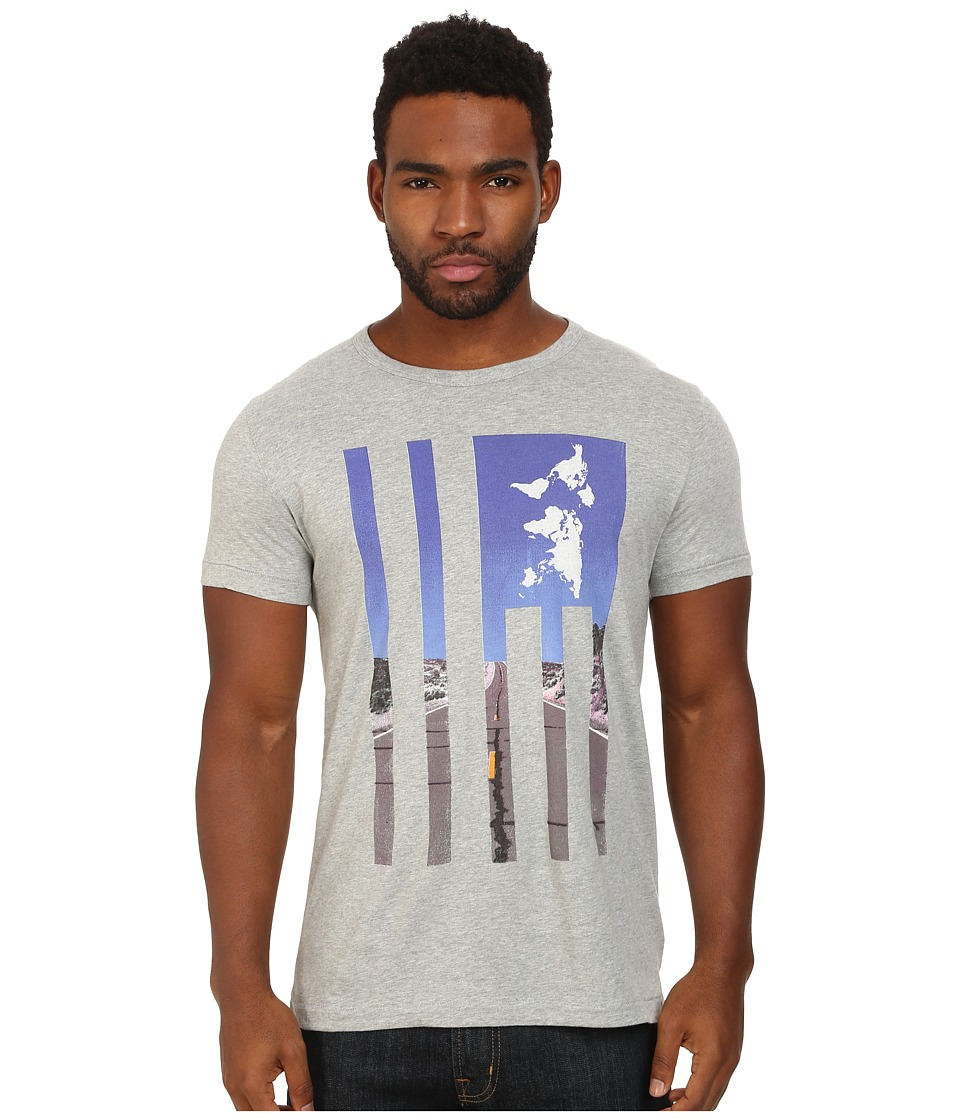French Connection - Highway USA Tee (Grey Melange) Men