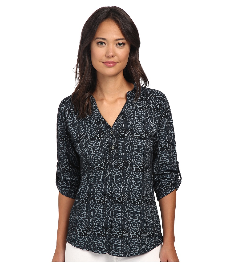 Fresh Produce - Geo Wave Dockside Henley (Black) Women