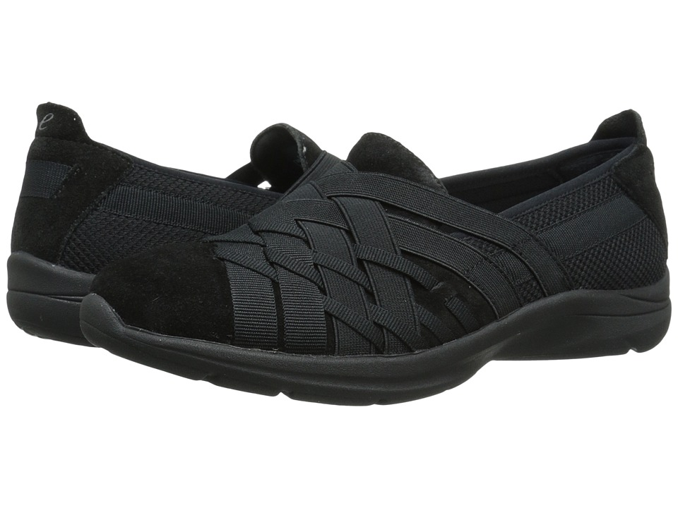 Easy Spirit - Queenie (Black Multi Fabric) Women's Slip on Shoes