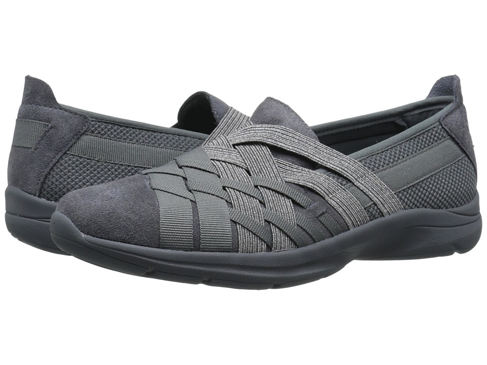 Easy Spirit - Queenie (Dark Grey Multi Fabric) Women's Slip on Shoes