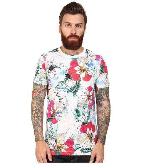 French Connection - Floral Reef Tee (Summer White) Men