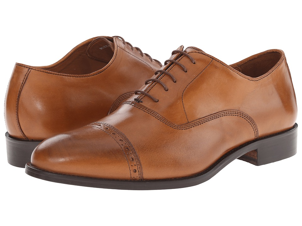 Massimo Matteo - 5-Eye Bal Cap Toe (Tan) Men's Lace Up Cap Toe Shoes