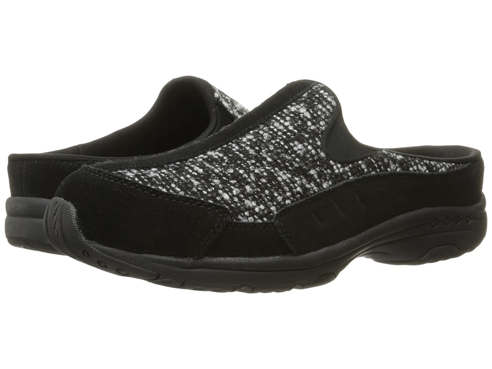 Easy Spirit - Traveltime (Black/Black Multi Suede) Women's Clog Shoes