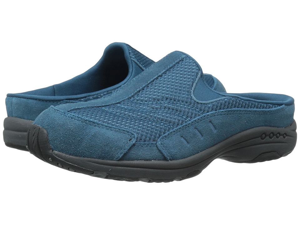 Easy Spirit - Traveltime (Med Blue/Med Blue Suede) Women's Clog Shoes