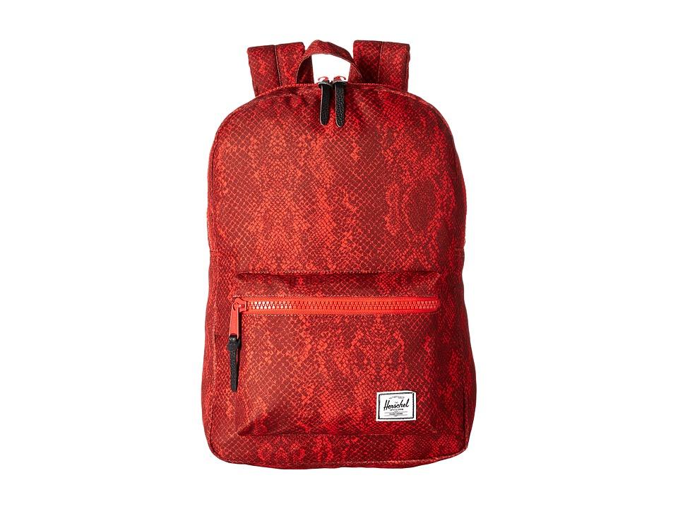 Herschel Supply Co. - Settlement Mid-Volume (Red Snake) Backpack Bags