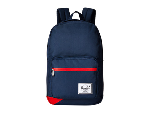 Herschel Supply Co. - Pop Quiz (Navy Pu/Red) Backpack Bags