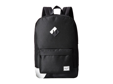 Herschel Supply Co. - Heritage (Black Pu/White) Backpack Bags