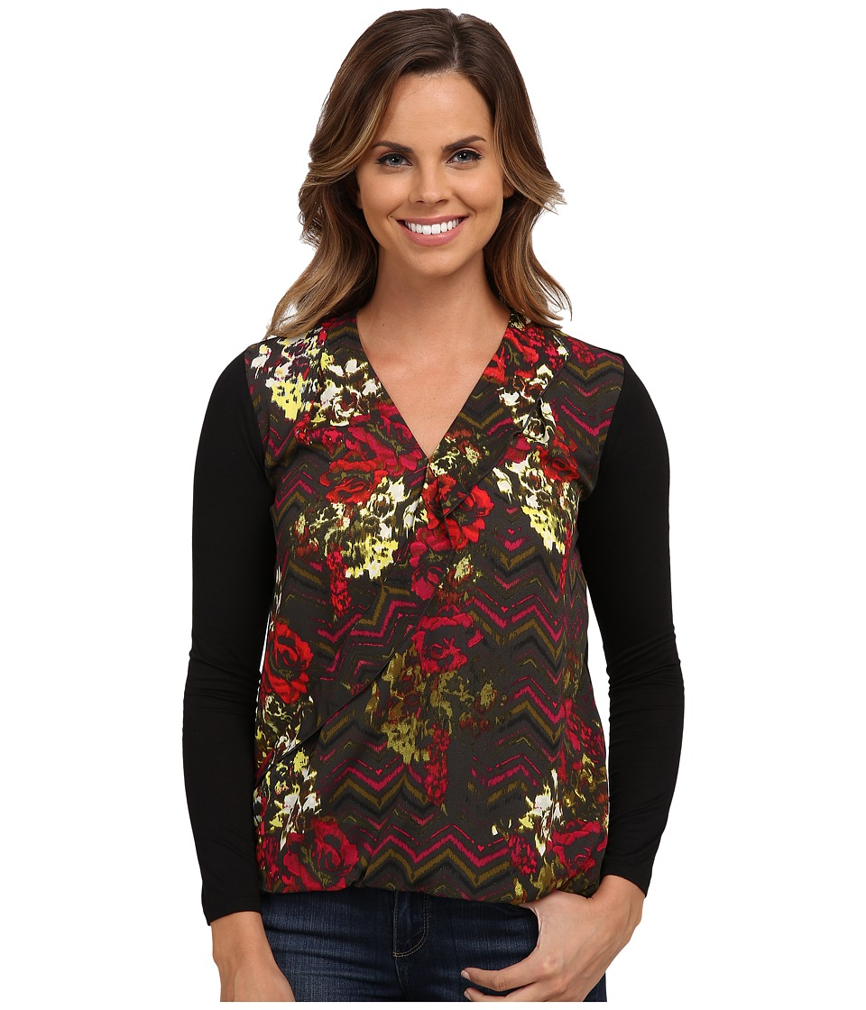 KUT from the Kloth - Wyatt Top (Pavement) Women's Blouse