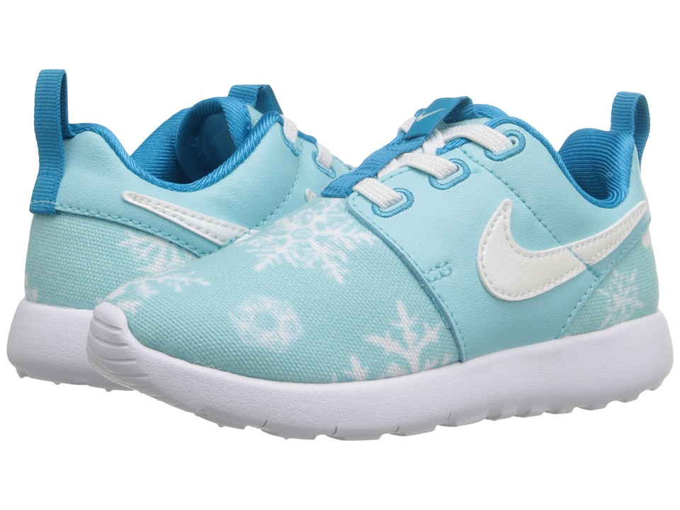 Nike Kids - Roshe One Print (Infant/Toddler) (Copa/White/Blue Lagoon) Girls Shoes