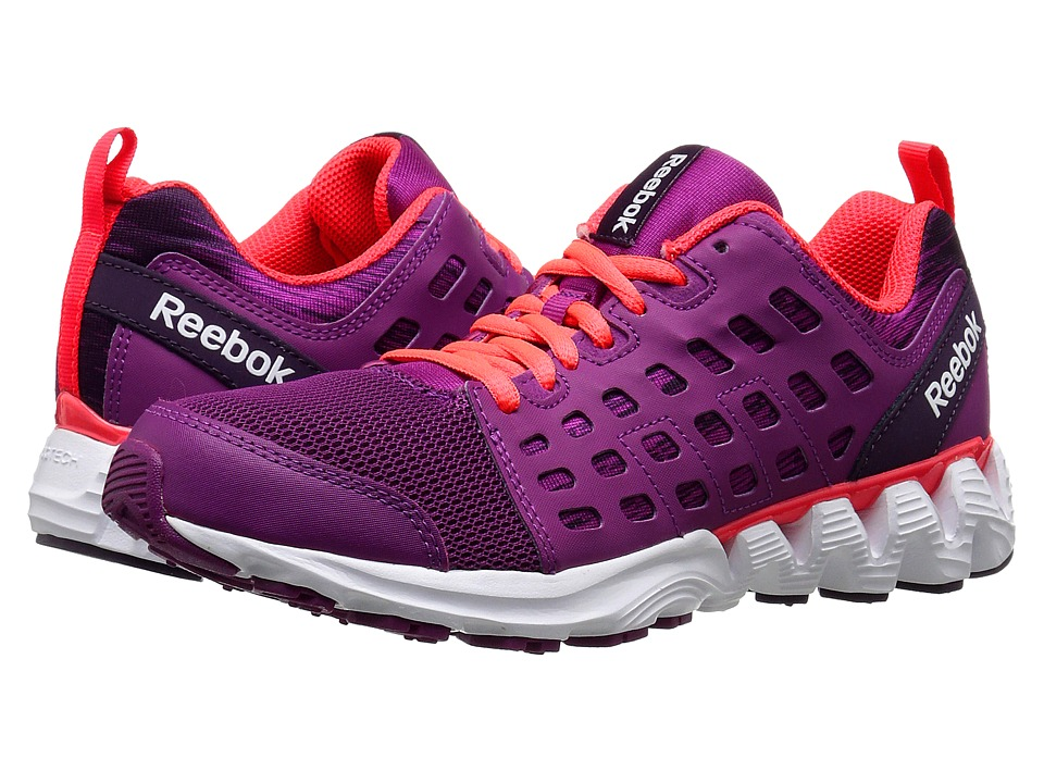 Reebok Kids - ZigKick Racer (Big Kid) (Fierce Fuchsia/Royal Orchid/White/Neon Cherry) Girls Shoes
