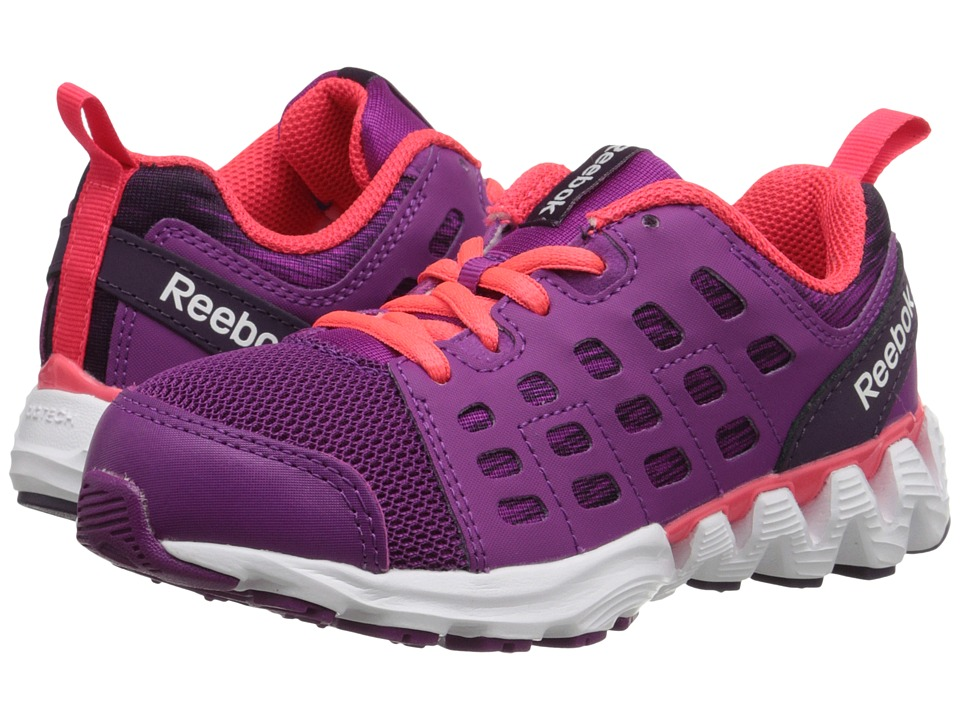 Reebok Kids - ZigKick Racer (Little Kid) (Fierce Fuchsia/Royal Orchid/White/Neon Cherry) Girls Shoes