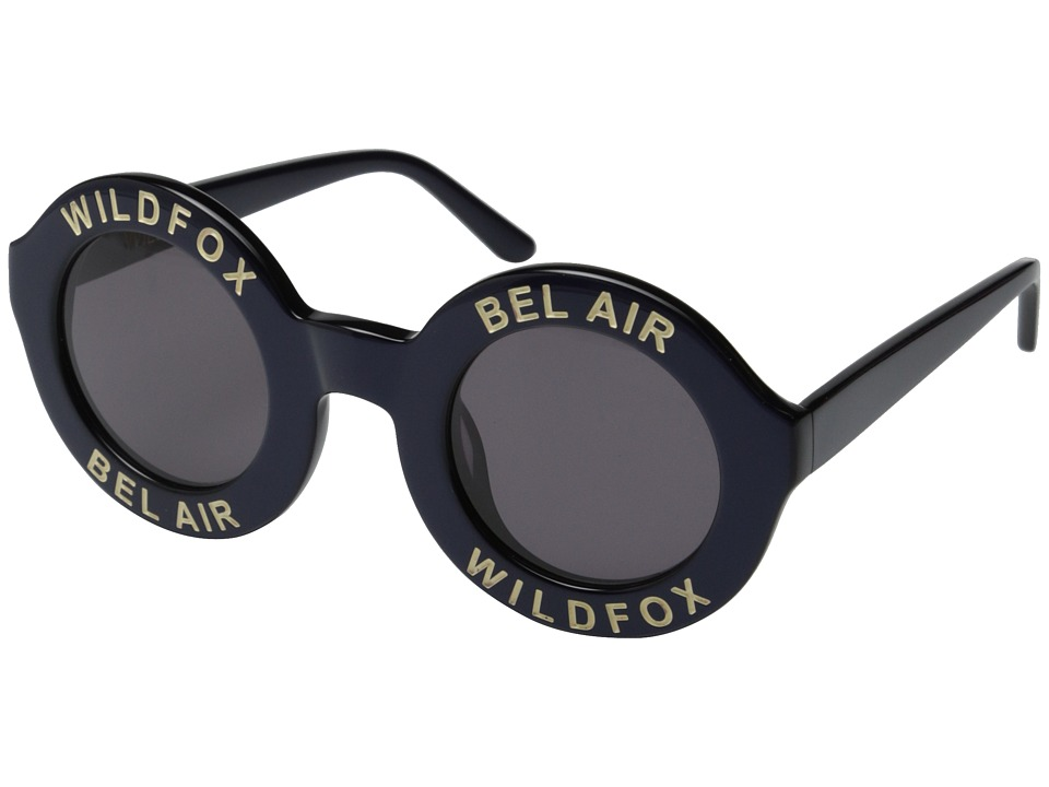 Wildfox - Bel Air (Navy Blue/Grey Sun) Plastic Frame Fashion Sunglasses