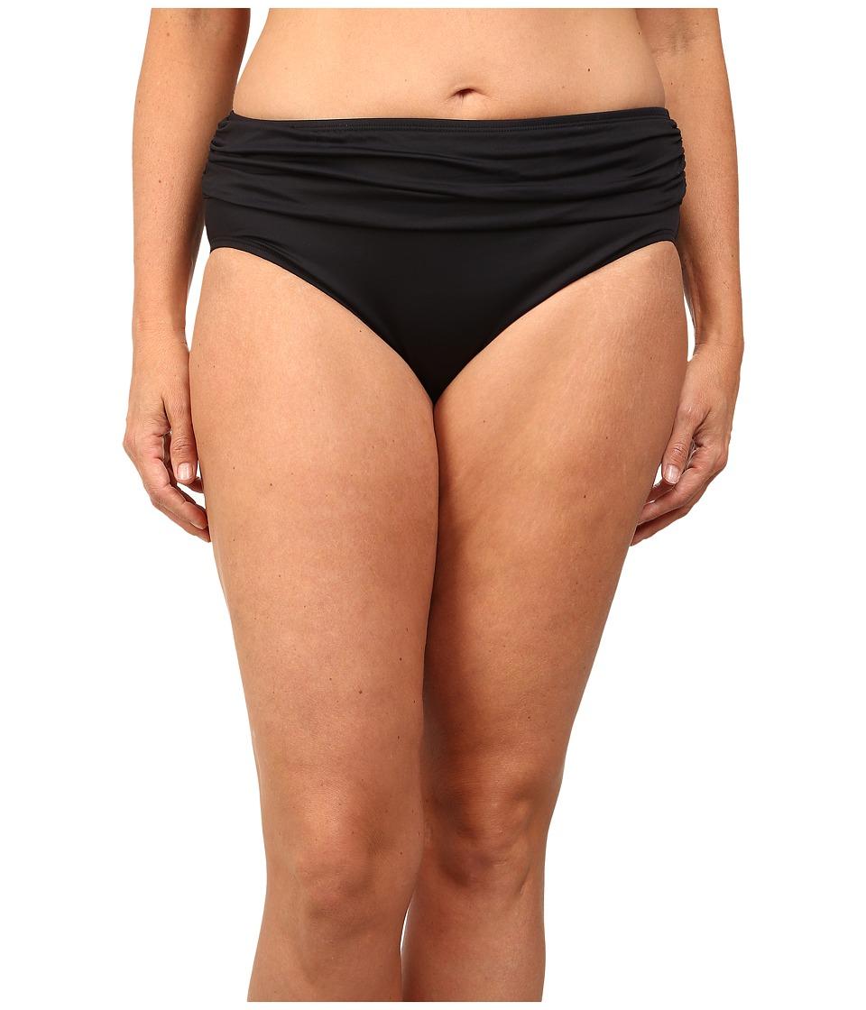 Tommy Bahama - Plus Size High Waist Sash Pants (Black) Women