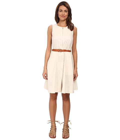 Theory - Gralista Poplin Dress (Parchment) Women