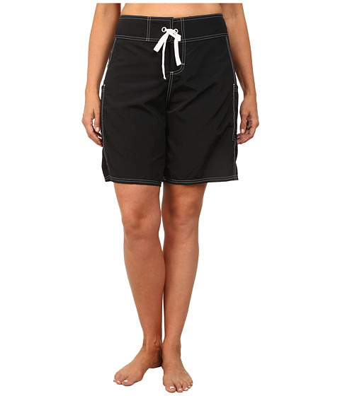 Tommy Bahama - Plus Size 9 Boardshorts (Black) Women's Swimwear