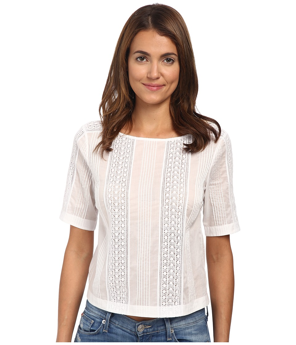 Theory - Littrelly Cotton Lawn Top (White) Women's Blouse