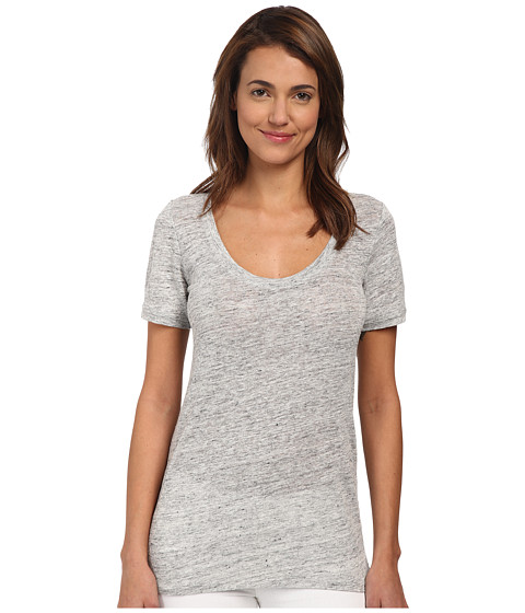 Theory - Lakyle Melange Tee (Light Grey) Women's T Shirt