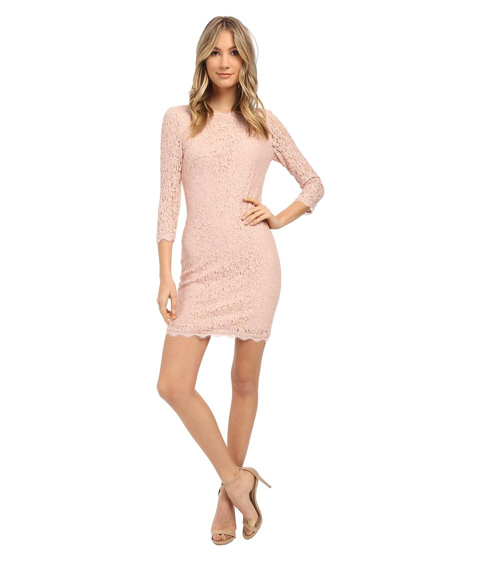 Adrianna Papell - L/S Lace Dress (Bridal Blush) Women's Dress