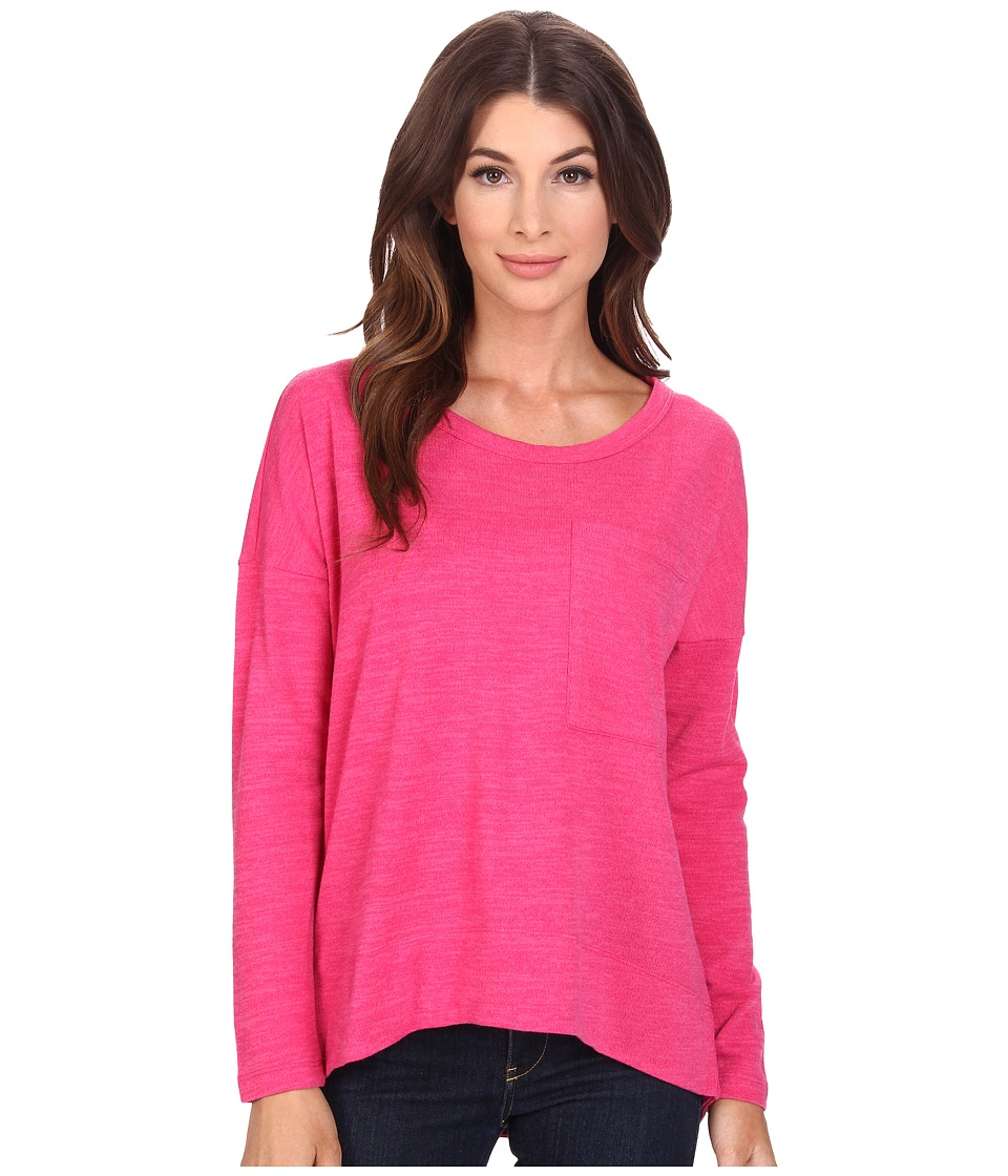 KUT from the Kloth - Sasha Top (Lipstick Pink) Women's T Shirt