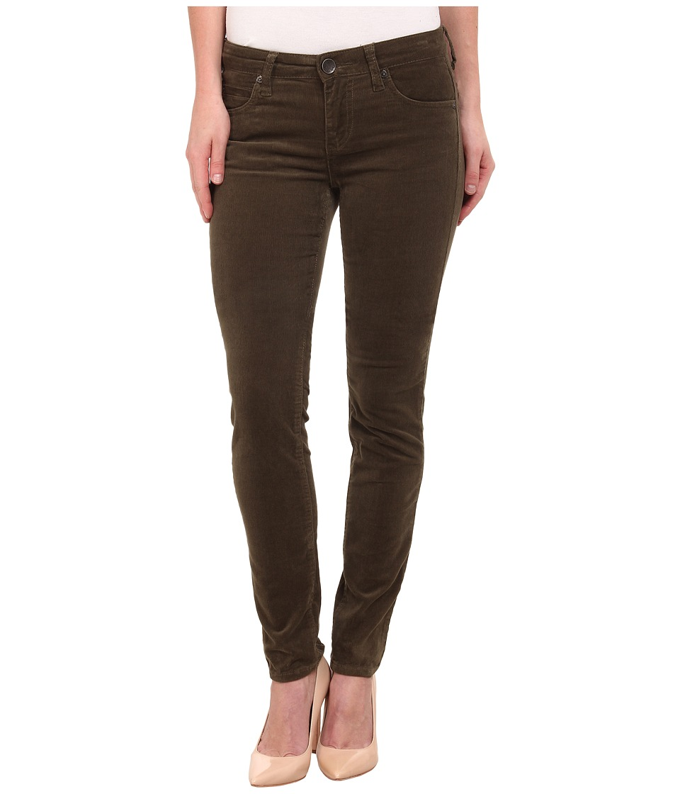 KUT from the Kloth - Diana Cord Skinny Jean (Dark Olive) Women's Jeans